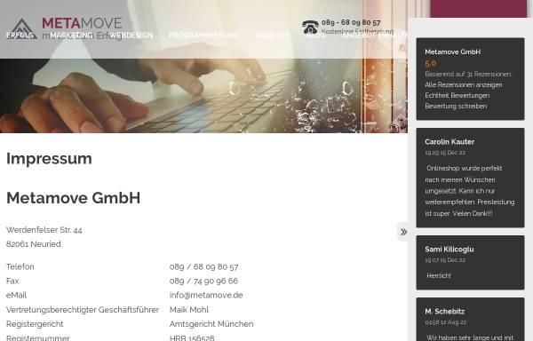 Vorschau von www.metamove.de, Metamove GmbH