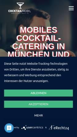 Vorschau der mobilen Webseite www.cocktailmobil.de, Tricks Club & Lounge