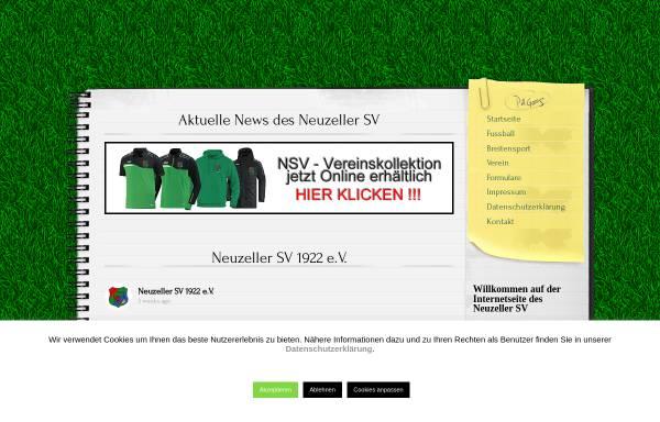 Vorschau von www.neuzeller-sv.de, Neuzeller Sportverein 1922 e.V.