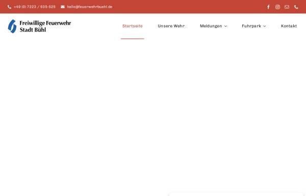 Vorschau von www.feuerwehrbuehl.de, Freiwillige Feuerwehr Bühl