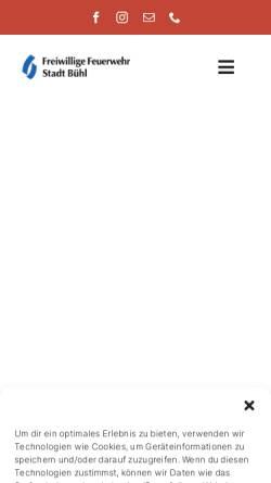 Vorschau der mobilen Webseite www.feuerwehrbuehl.de, Freiwillige Feuerwehr Bühl