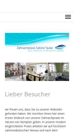 Vorschau der mobilen Webseite www.dentalarts.de, Dr. Kornel Mayr und Sabine Taube