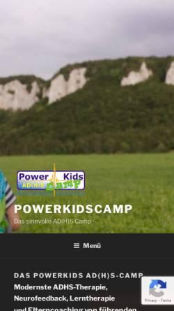Vorschau der mobilen Webseite powerkidscamp.de, PowerKids AD(H)S-Camp