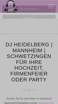 Vorschau der mobilen Webseite www.djcall.de, DJcall.de Andreas Scheller