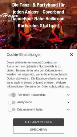 Vorschau der mobilen Webseite www.hochzeit-event-dj.com, Hochzeit Event DJ Adam Kazimierski