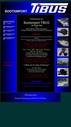Vorschau der mobilen Webseite www.tibus-boote.de, Tibus Boote