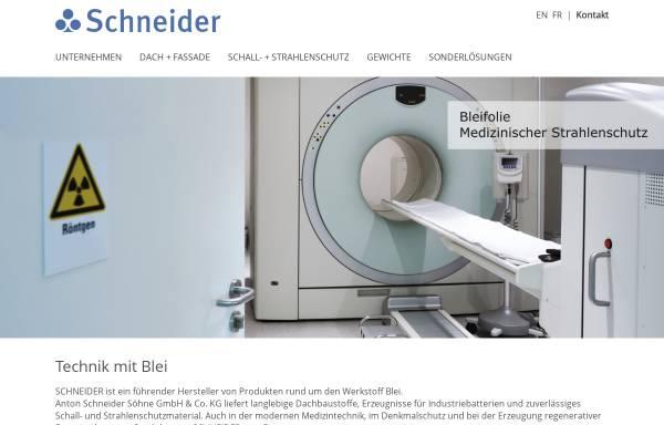 Vorschau von www.schneider-ass.de, Anton Schneider Söhne GmbH & Co. KG