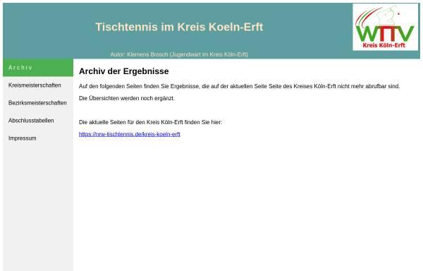 Vorschau von www.tt.koeln-erft.de, Tischtennis im Kreis Köln-Erft