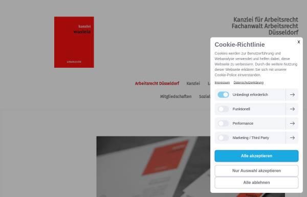Vorschau von www.kanzlei-wasiela.de, Rechtsanwaltskanzlei Wasiela