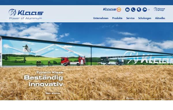 Vorschau von klaas.com, Internetpräsenz der Firma Klaas
