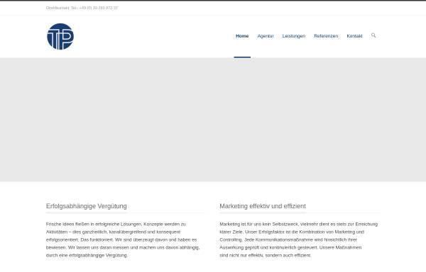 Vorschau von tp-berlin.com, TP Theorie&Praxis - Gesellschaft für Forschung und neue Kommunikation mbH