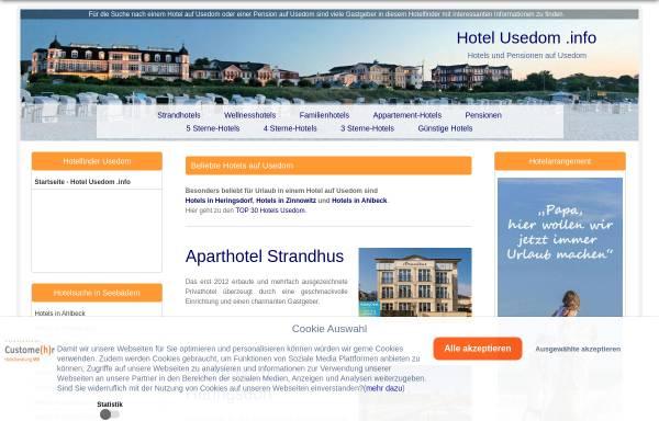 Vorschau von www.hotel-usedom.info, Hotel-usedom.info; Inh.: Markus Blättermann