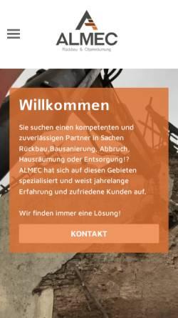 Vorschau der mobilen Webseite www.almec.de, Almec
