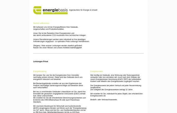 Vorschau von www.energiebasis.de, Energiebasis - Johannes Krieger