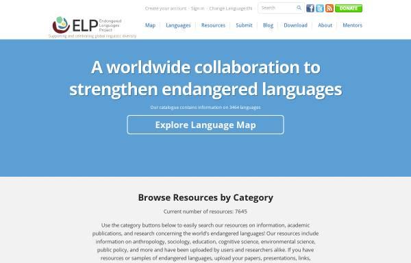 Vorschau von www.endangeredlanguages.com, Endangered Languages Project