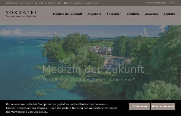 Vorschau von krebsrehaklinik.ch, Gesundheitszentrum Sokrates AG