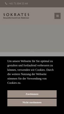 Vorschau der mobilen Webseite krebsrehaklinik.ch, Gesundheitszentrum Sokrates AG