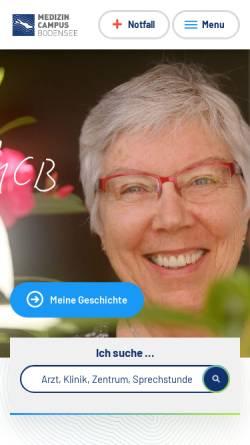 Vorschau der mobilen Webseite www.klinikum-friedrichshafen.de, Klinikum Friedrichshafen GmbH