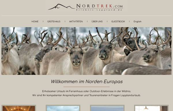 Vorschau von www.erlebnis-lappland.de, Nordtrek AB