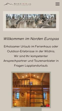 Vorschau der mobilen Webseite www.erlebnis-lappland.de, Nordtrek AB