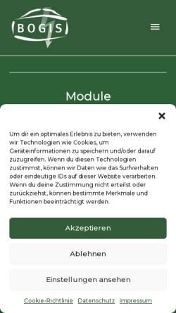 Vorschau der mobilen Webseite www.biogas-bogis.de, BT IT-Service GmbH