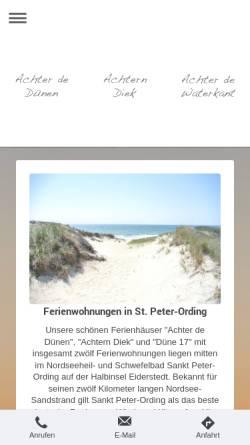 Vorschau der mobilen Webseite www.ferienwohnung-nordsee-st-peter-ording.de, Haus