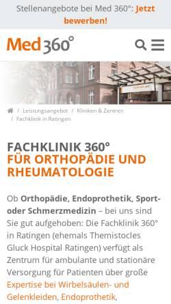 Vorschau der mobilen Webseite www.clinic.de, Evangelisches Fachkrankenhaus und Altenhilfe Ratingen gGmbH