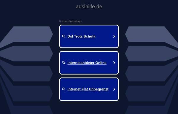 Vorschau von www.adslhilfe.de, ADSLHilfe
