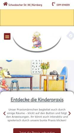 Vorschau der mobilen Webseite www.kinderpraxis-hohn.de, Sabina Hohn