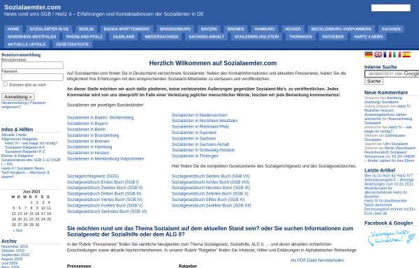Vorschau von www.sozialaemter.com, Sozialaemter.com - News ums SGB