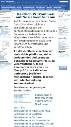 Vorschau der mobilen Webseite www.sozialaemter.com, Sozialaemter.com - News ums SGB