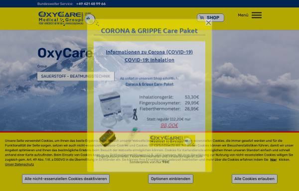 Vorschau von www.oxycare-gmbh.de, OxyCare GmbH