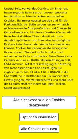 Vorschau der mobilen Webseite www.oxycare-gmbh.de, OxyCare GmbH