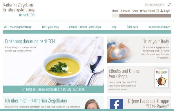 Vorschau von www.ernaehrungsberatung-wien.at, Ernährungsberatung nach TCM