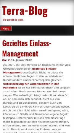 Vorschau der mobilen Webseite terra-blog.de, Terra Blog