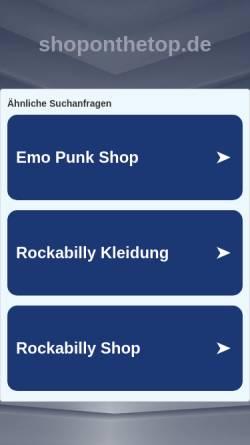 Vorschau der mobilen Webseite www.shoponthetop.de, Shoponthetop GmbH