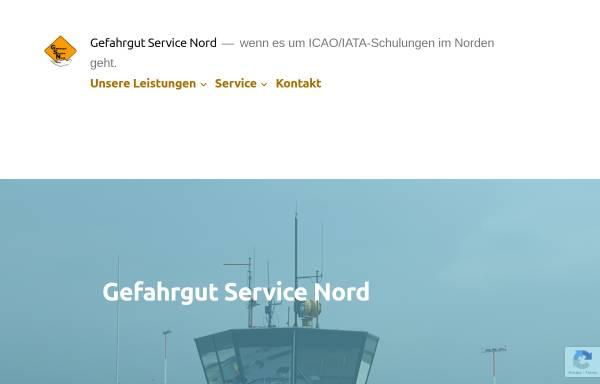 Vorschau von gefahrgut-nord.de, Gefahrgut Service Nord