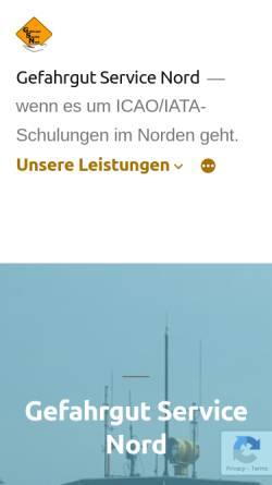 Vorschau der mobilen Webseite gefahrgut-nord.de, Gefahrgut Service Nord