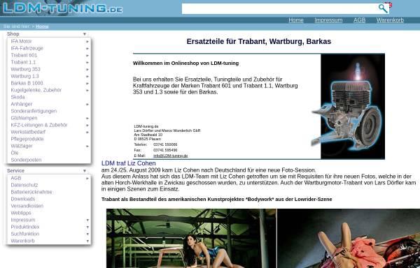 Vorschau von www.ldm-tuning.de, LDM-Tuning, Dörfler und Wunderlich GbR