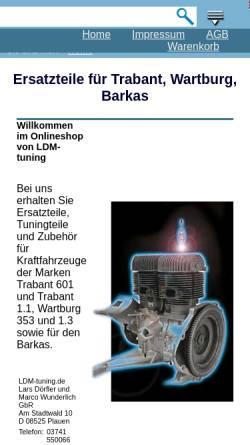 Vorschau der mobilen Webseite www.ldm-tuning.de, LDM-Tuning, Dörfler und Wunderlich GbR