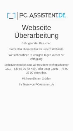 Vorschau der mobilen Webseite www.pcassistent.de, PC Assistent