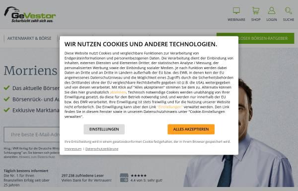 Vorschau von www.gevestor.de, GeVestor Financial Publishing Group
