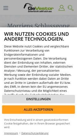 Vorschau der mobilen Webseite www.gevestor.de, GeVestor Financial Publishing Group