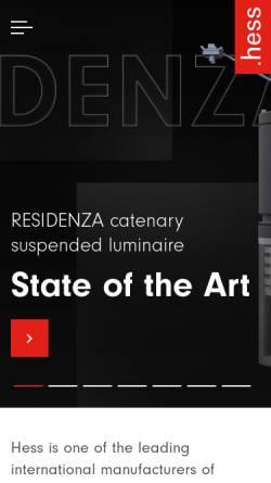Vorschau der mobilen Webseite www.hess.eu, Hess AG
