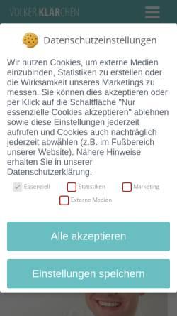 Vorschau der mobilen Webseite klaerchen-coaching.de, Klärchen coaching + beratung