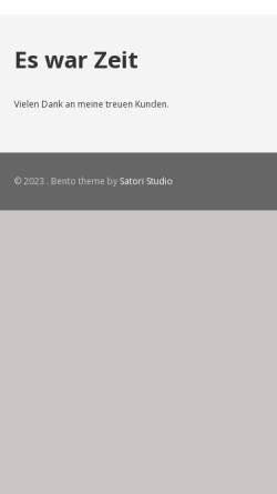 Vorschau der mobilen Webseite www.klarinetten-hufnagel.de, Georg Hufnagel, Holzblasinstrumentenmeister
