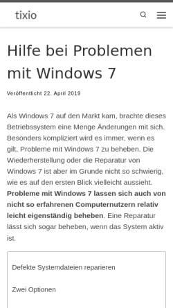 Vorschau der mobilen Webseite windows-hilfe-forum.de, Windows Hilfe Forum