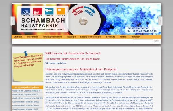 Vorschau von www.haustechnik-schambach.de, Haustechnik Schambach e. K.