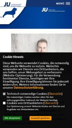 Vorschau der mobilen Webseite www.ju-lv-bs.de, Junge Union Bezirksverband Braunschweig