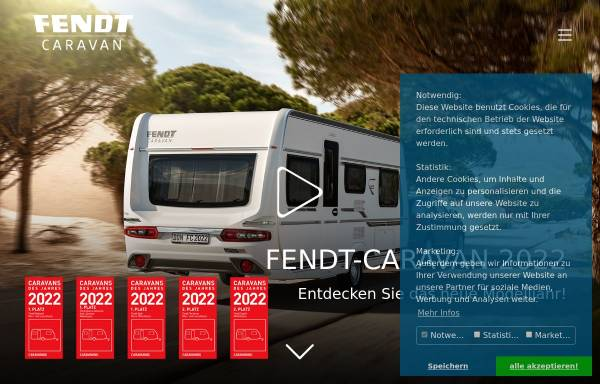Vorschau von www.fendt-caravan.com, Fendt-Caravan GmbH